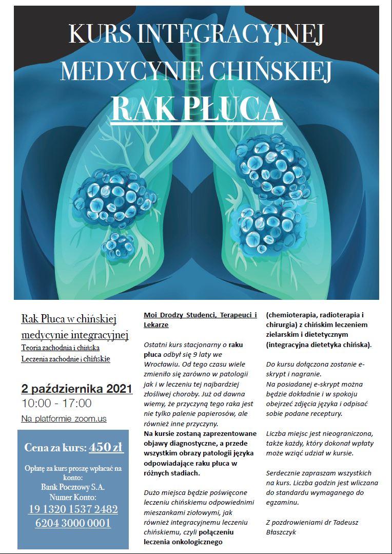 Rak Płuca w chińskiej medycynie integracyjnej